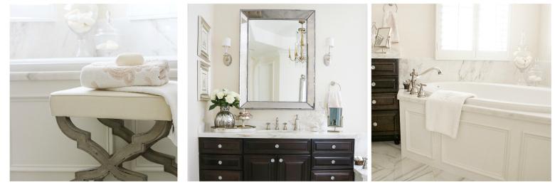 Elegant master bathroom details