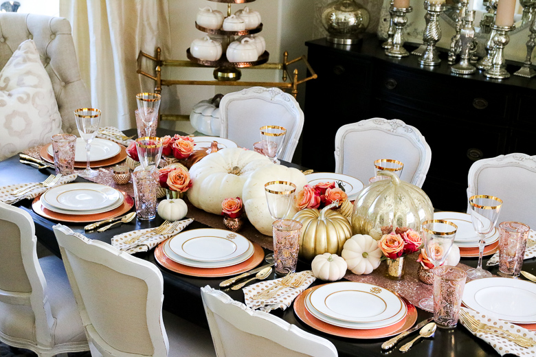 Elegant Rose Gold Tablescape For Fall Copy
