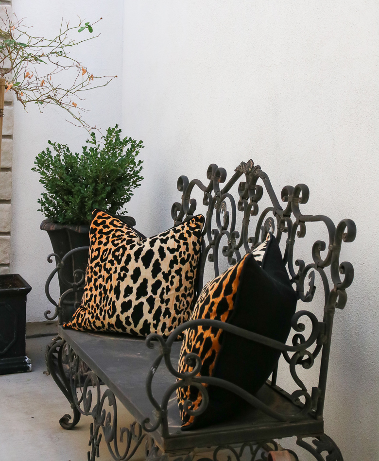 Gorgeous Fall Porch and Patio Inspiration - leopard pillow