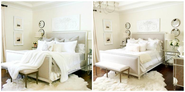fall-vs-summer-master-bedroom