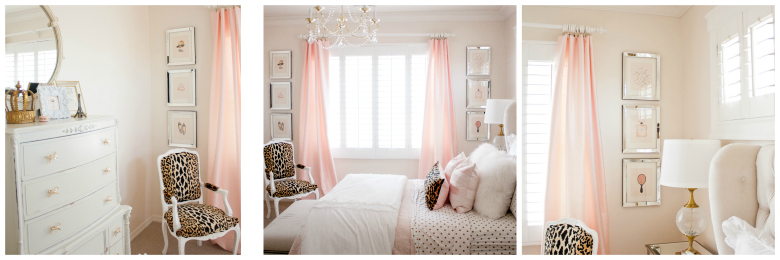 Pink and Gold Tween Bedroom