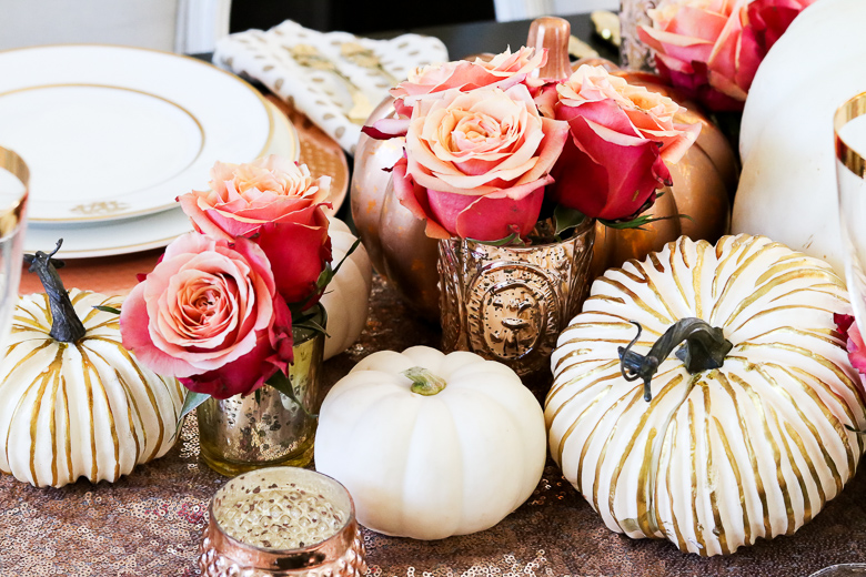 rose-gold-centerpiece-for-fall