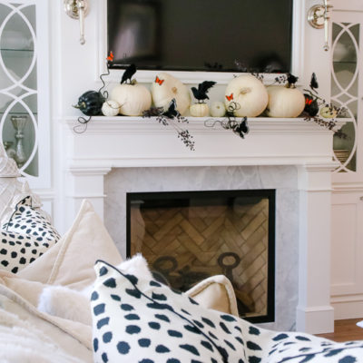 5 Days of Halloween – Day 2 Classy Halloween Mantel and Family Room