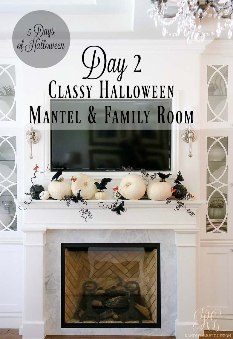 5 days of halloween day 2 classy halloween mantel and family