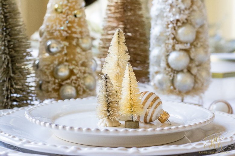 White Christmas Place Setting
