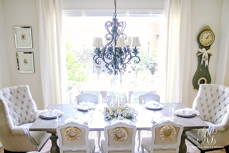 christmas-home-tour-elegant-kitchen-table-tufted-wing-back-chairs