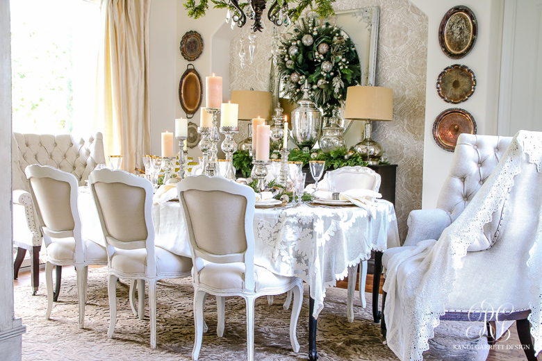 Incredible Elegant White And Gold Christmas Dining Room And Table Scape Home Interior And Landscaping Ologienasavecom