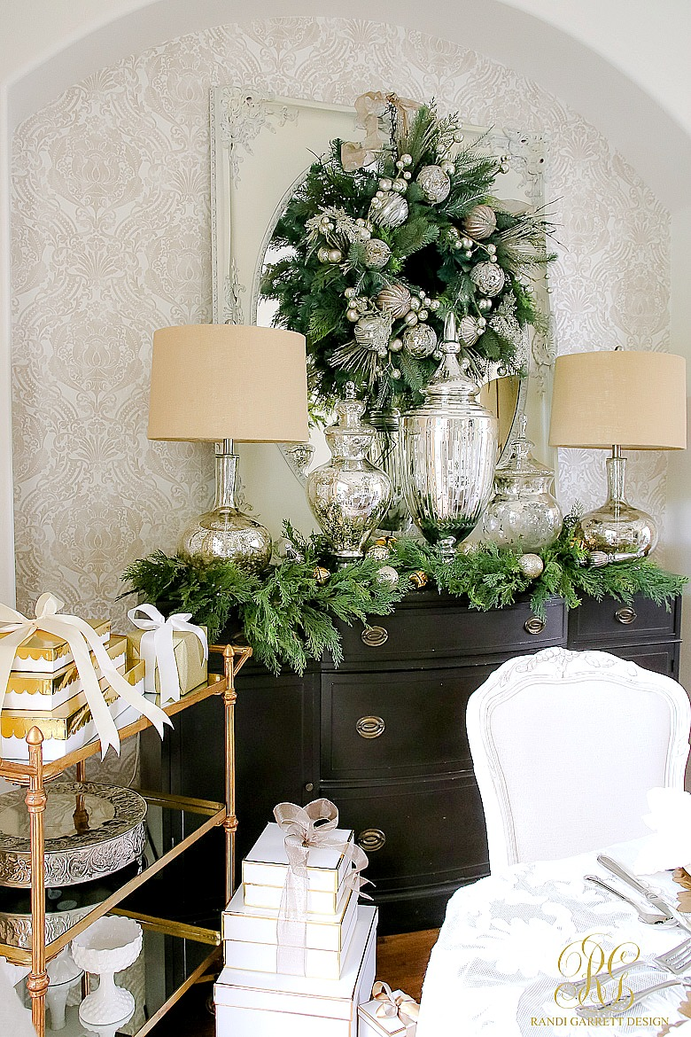 High Quality Christmas Home Tour Silver And Gold Dining Room Part 30