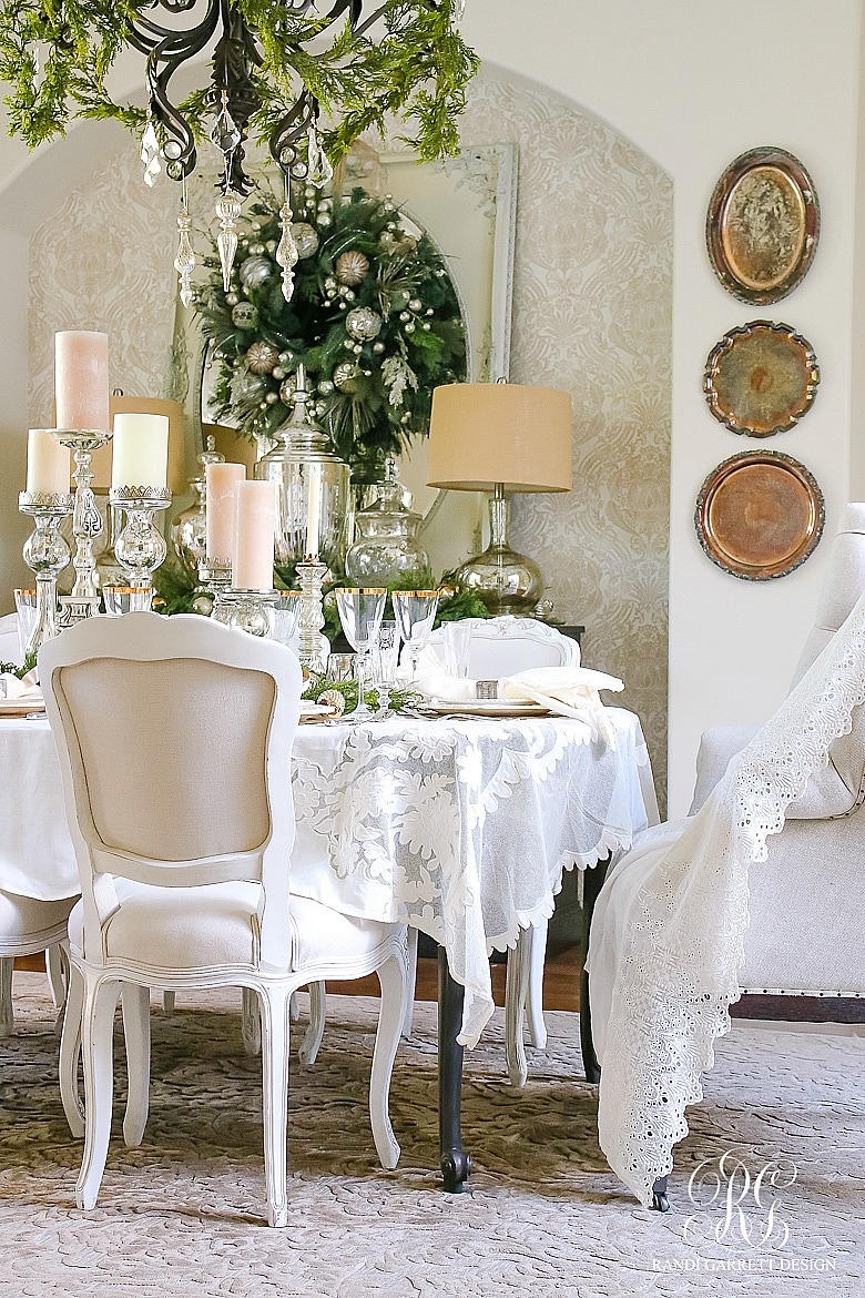 Christmas Home Tour White And Gold Dining Room
