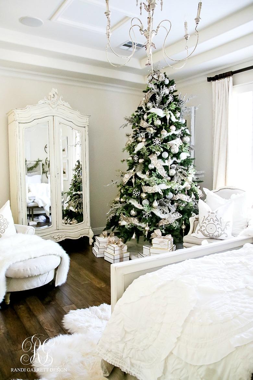Deck the Halls Christmas Home Tour - Romantic Christmas Bedroom