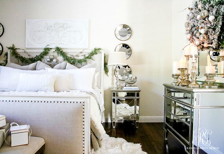 35592884dc75b Deck the Halls Christmas Home Tour - Romantic Christmas Bedroom