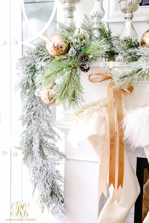 flocked-christmas-garland-white-ruffled-stocking