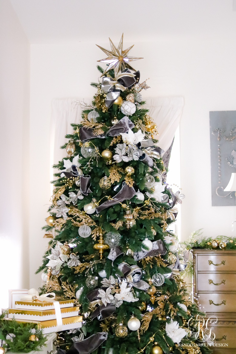 gold and gray elegant christmas tree