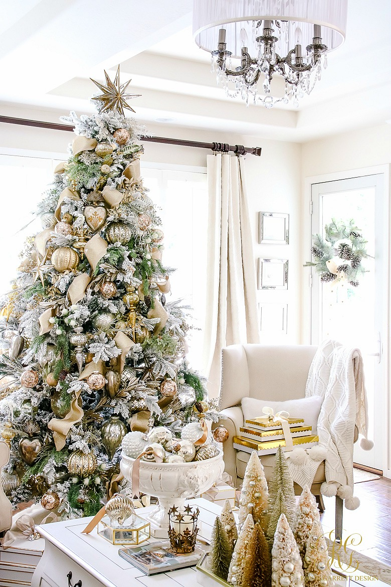 gold-and-silver-flocked-christmas-tree