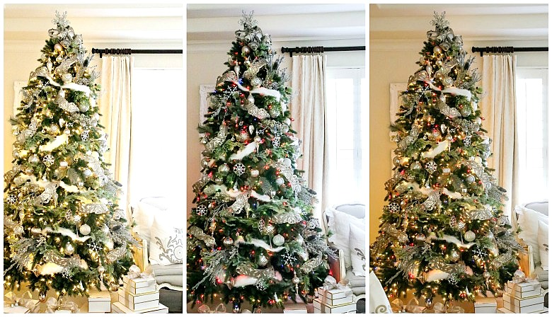silver-and-white-christmas-trees-with-3-types-of-lights