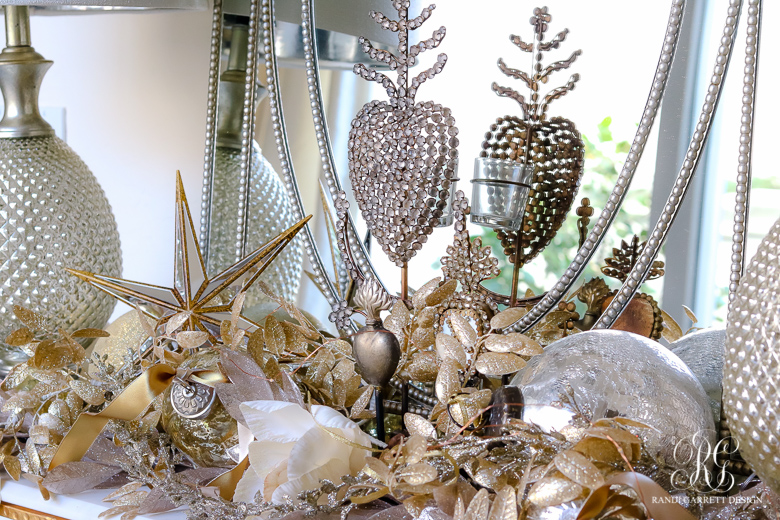 Silver And Gold Christmas Entry Table