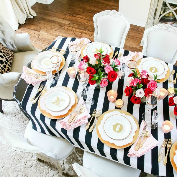 Chic Galentine's Day Table for Valentine's Day