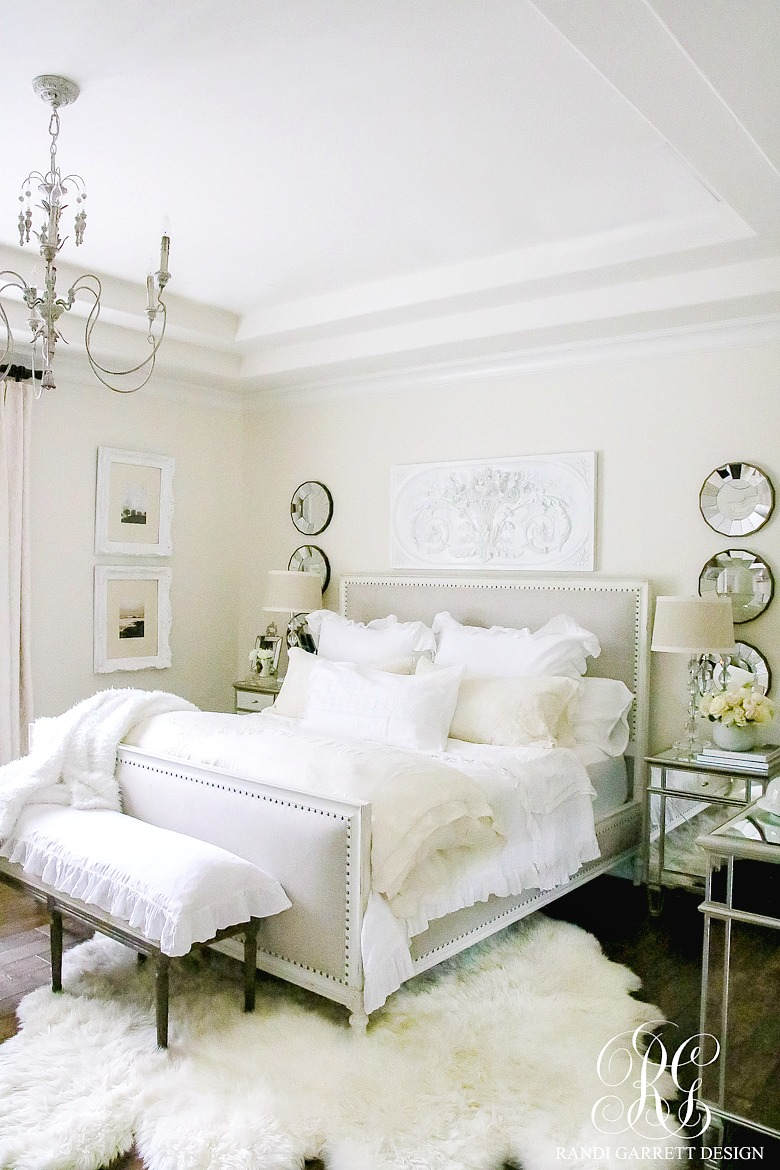 Styled For Spring Home Tour Part 2 Elegant Ruffle And Lace Master Bedroom