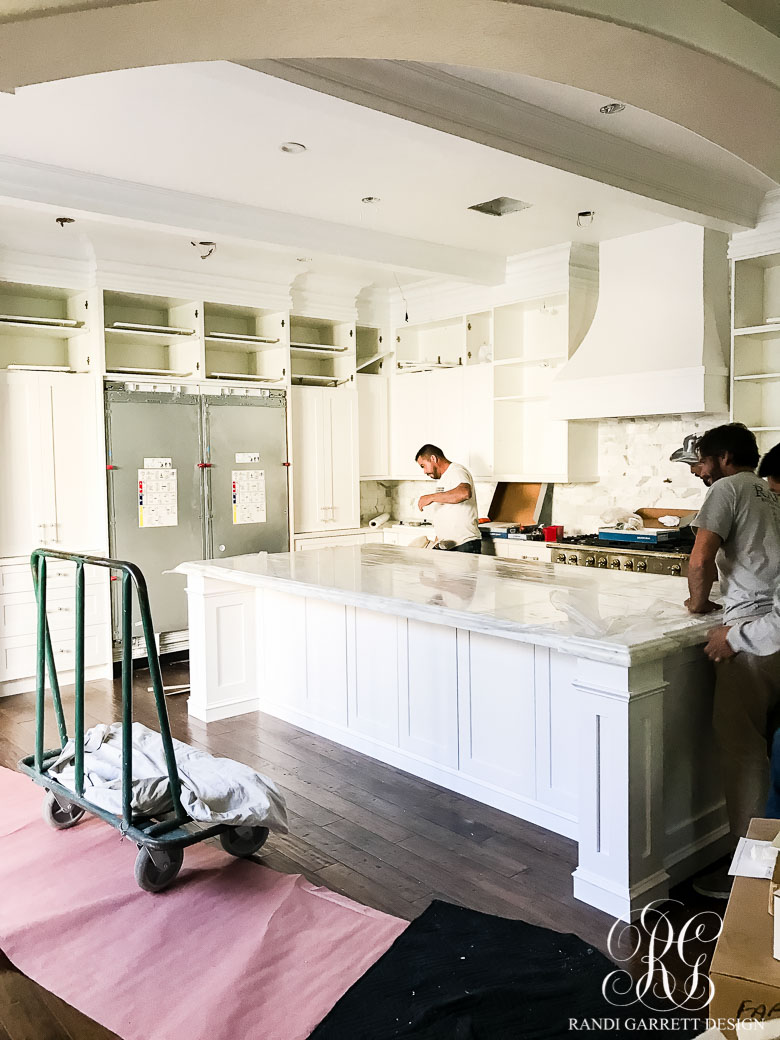 Elegant White Kitchen Remodel - Before, During and After - Randi ...