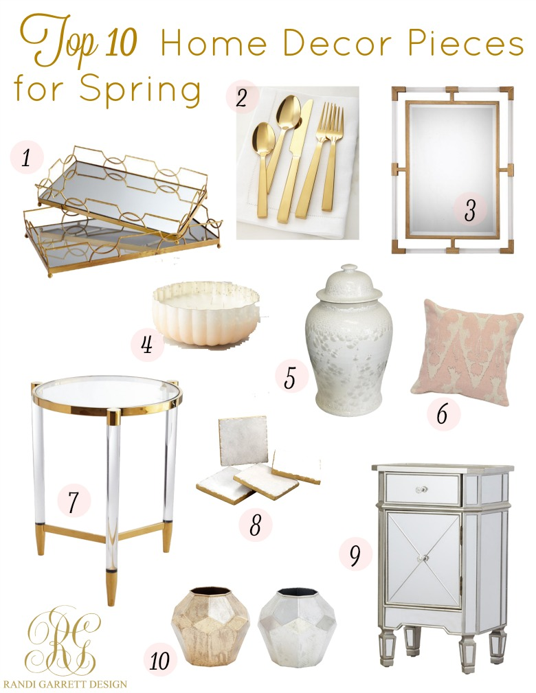 Top 10 home decor and fashion pieces for spring randi for Home decoration pieces