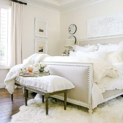 Styled for Spring Home Tour Part 2 – Elegant Ruffle and Lace Spring Master Bedroom