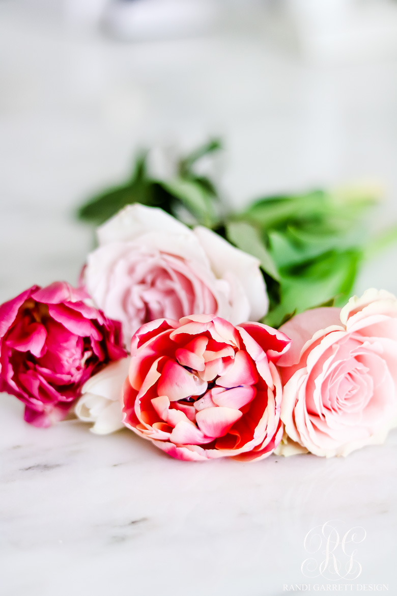 Beautiful spring entertaining ideas with fresh flowers and mini bouquets gather the flowers and place them on top of a square of your tissue paper make such that the square is turned like a diamond with the corner at the top of izmirmasajfo Images