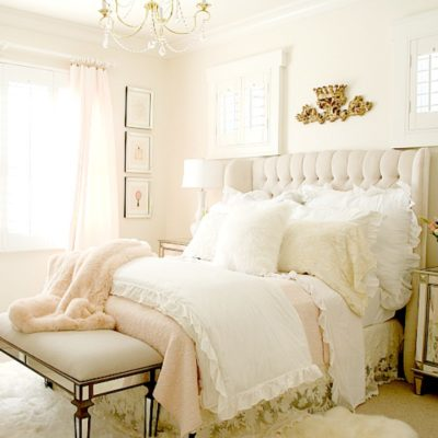 Blush Pink Lace Bedroom Makeover – Easy Tips to Refresh your Bedroom