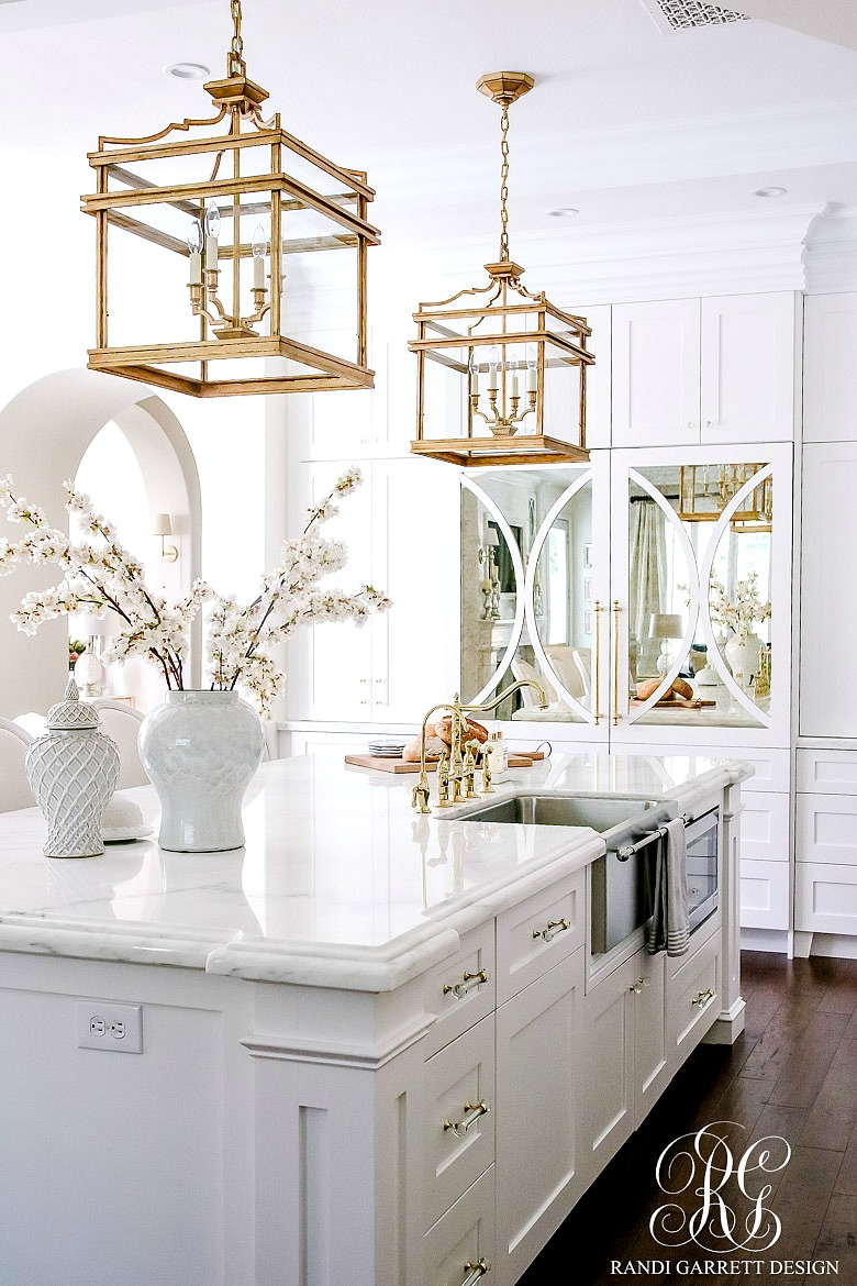 White Kitchen Remodel Before And After dark to light kitchen before and after - elegant white kitchen reveal