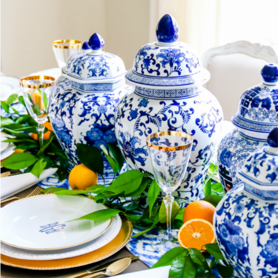 3 Sentimental Gift Ideas for Mother's Day & How to Set a Blue and White Table Just for Her