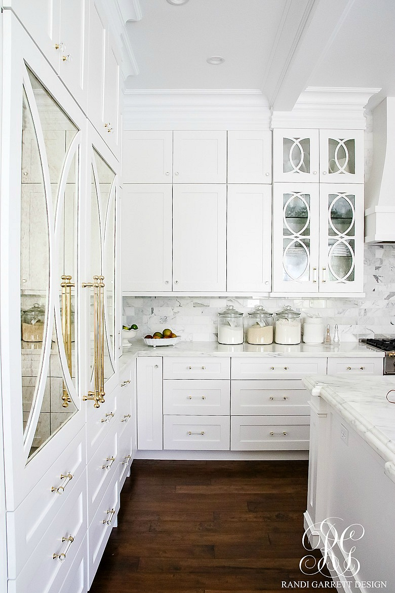 Dark to light kitchen before and after elegant white for White kitchen cabinets with glass