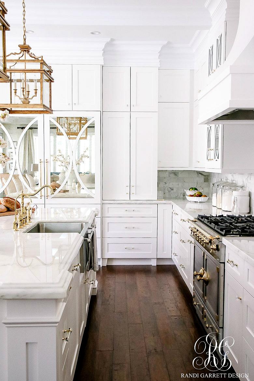 Dark to light kitchen before and after elegant white - Elegant white kitchen cabinets ...