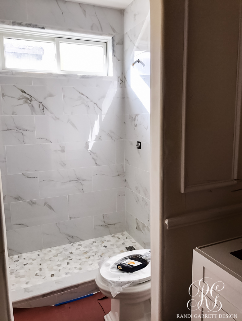 Transitional Guest Bathroom Makeover - Mood Board & Before and After