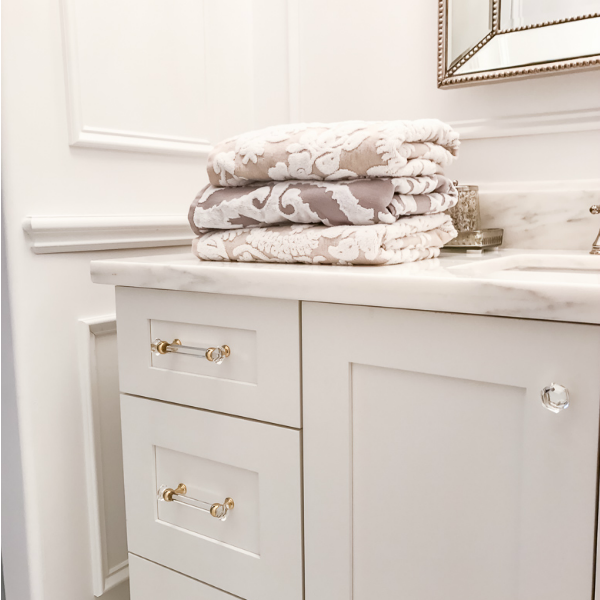 Transitional Guest Bathroom Makeover – Mood Board & Before and After