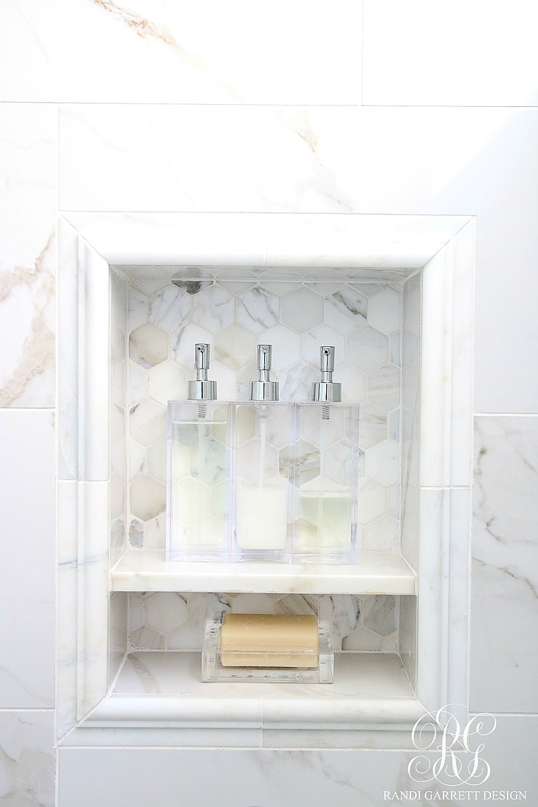 Glam Transitional Guest Bathroom Reveal - with Marble ...
