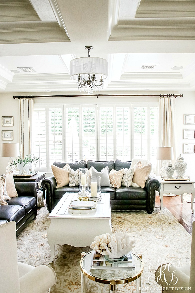 Family room makeover with a well dressed home randi - How to decorate a family room ...