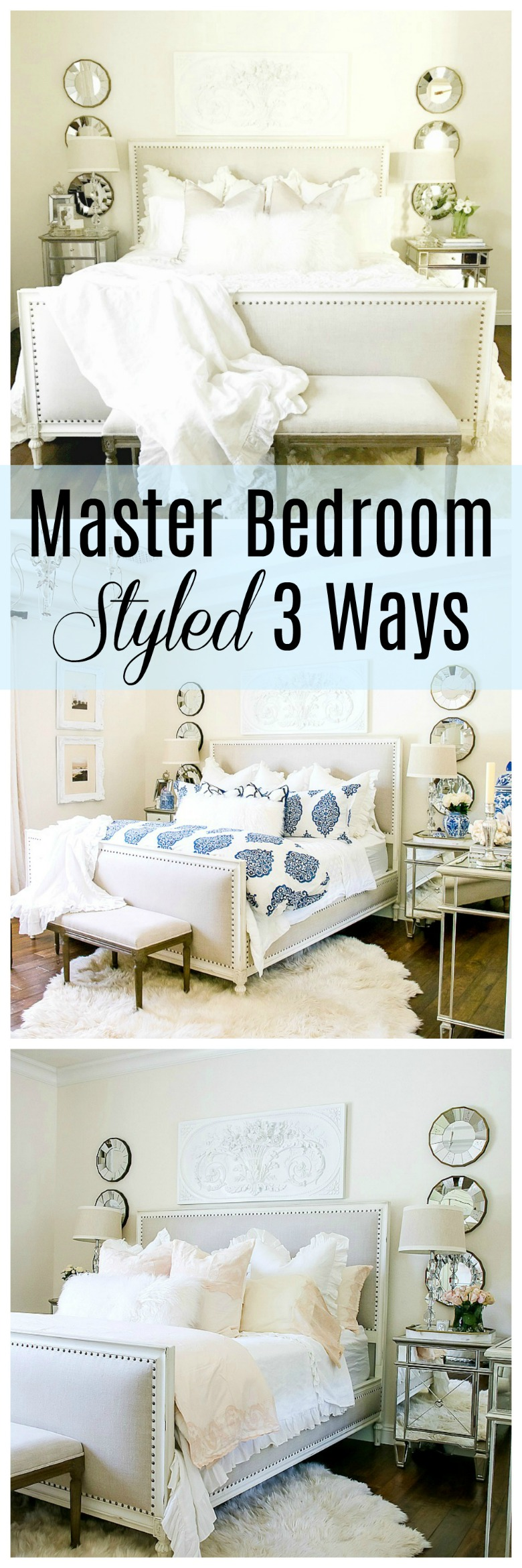 Master Bedroom Styled 3 Ways for Summer - Tips for Decorating ... on chocolate master bedroom, reading master bedroom, lighting master bedroom, organizing master bedroom, halloween master bedroom, aqua and brown master bedroom, painting master bedroom, furniture master bedroom, paint master bedroom, decorate my master bedroom, decorating master bedroom, family master bedroom, diy master bedroom, art master bedroom, staging master bedroom, design master bedroom, remodeling master bedroom, home master bedroom, small master bedroom, cleaning master bedroom,