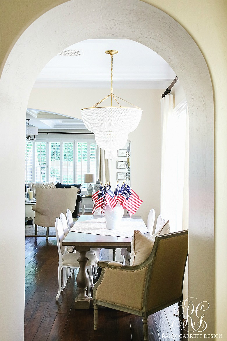 Patriotic kitchen - You Can Also Use White Ginger Jars Instead Of Blue And White Ones Like I Did On My Kitchen Table