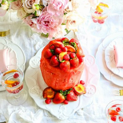 Tips to Glam up your Summer Entertaining + Fresh Watermelon Cake
