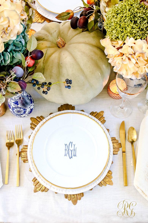 Elegant Heirloom Thanksgiving Table Scape