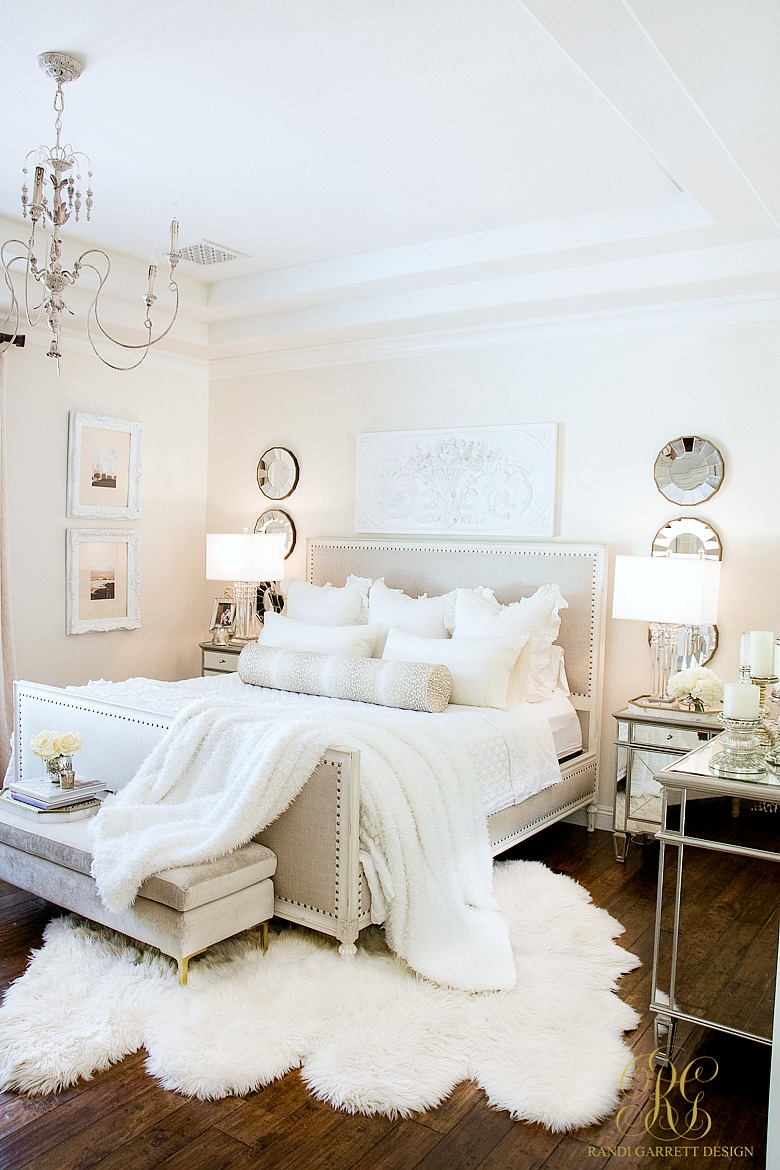white master bedroom 3 days of glam home tour randi 13851