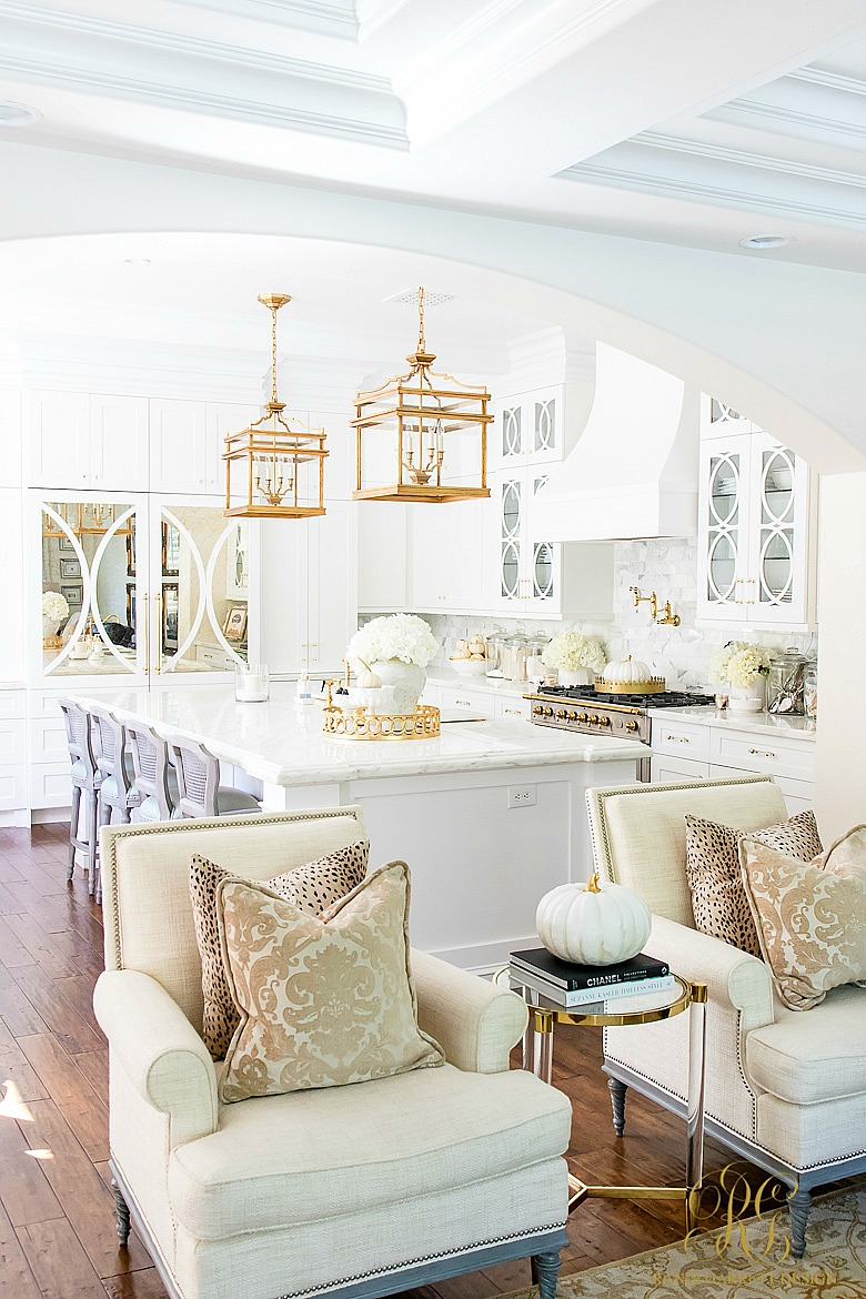 tips to style your home for fall - white kitchen