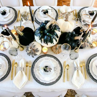 3 Days of Halloween – Glam Halloween Table