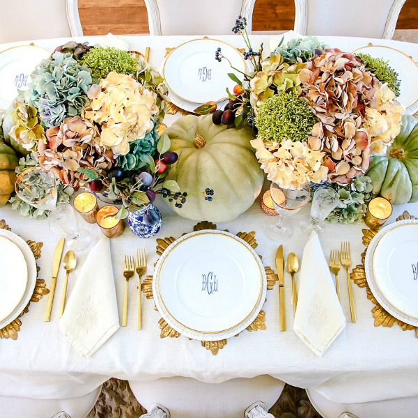 Elegant Heirloom Thanksgiving Table Scape