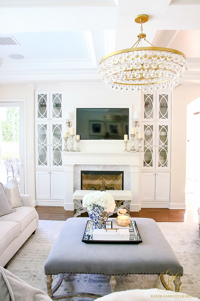 Transitional Family Room Reveal - Randi Garrett Design