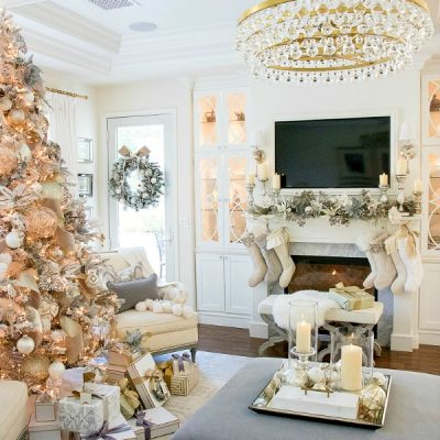 Christmas Home Tour 2017 – Silver and Gold Christmas