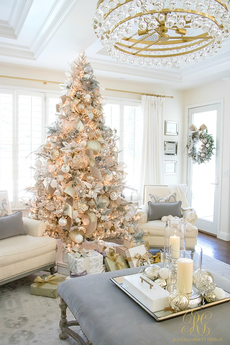 Gold Glitter Christmas Tree