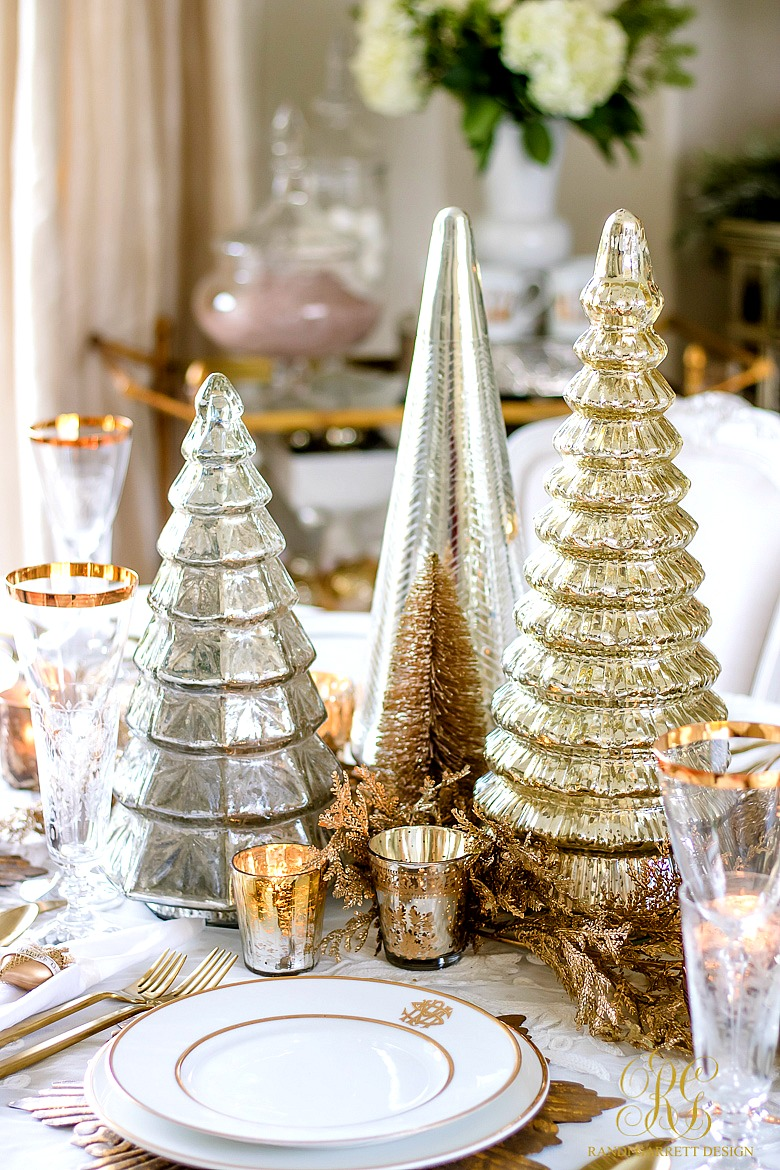 Gold Tabletop Christmas Trees