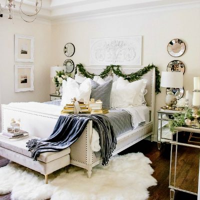 Simply Christmas Home Tour – Winter Wonderland Bedroom