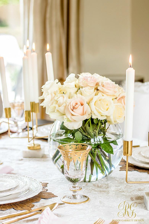 Glam Blush Gold Valentines Day Table Randi Garrett Design
