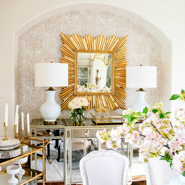 Glam Transitional Dining Room Reveal